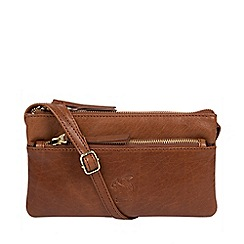 Conkca London - Conker brown 'Carrilo' handcrafted leather cross-body bag