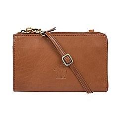Conkca London - Conker brown 'Senga' leather cross-body bag