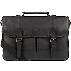 Bear Hardwear - Black 'Oak' leather briefcase