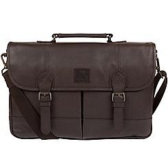 Bear Hardwear - Dark brown 'Oak' leather briefcase