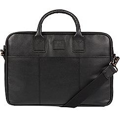 Bear Hardwear - Black 'Ash' leather briefcase
