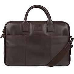 Bear Hardwear - Dark brown 'Ash' leather briefcase