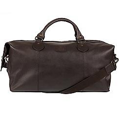 Bear Hardwear - Dark brown 'Grizzly' leather holdall