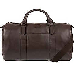 Bear Hardwear - Dark brown 'Big Bear' leather holdall