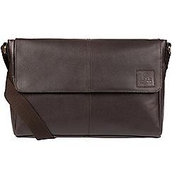 Bear Hardwear - Dark brown 'Forrester' leather messenger bag