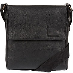 Bear Hardwear - Black 'Ranger' leather despatch bag