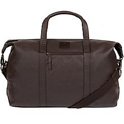Bear Hardwear - Dark brown 'Redwood' leather holdall