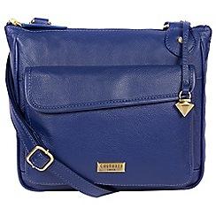 Cultured London - Mazarine blue 'Aria' leather cross-body bag