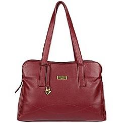 Cultured London Ruby Red Liana Leather Handbag