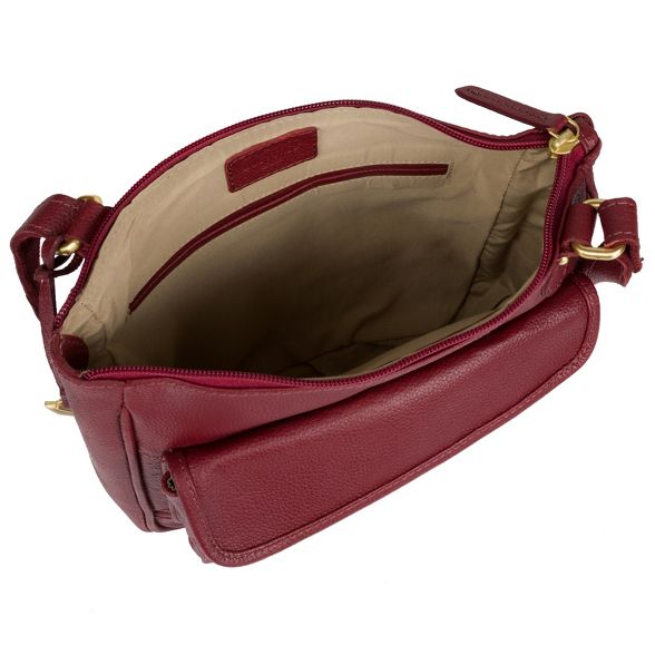 leather Ruby red body London real cross bag Cultured 'Aisha' XSFnHq1xxw