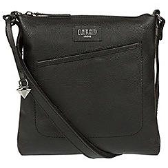 Cultured London - Black 'Bliss' leather cross-body bag