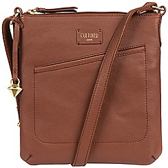 Cultured London - Brown 'Bliss' soft leather cross body bag