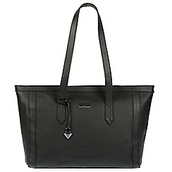 Cultured London - Black 'Ferne' leather tote bag