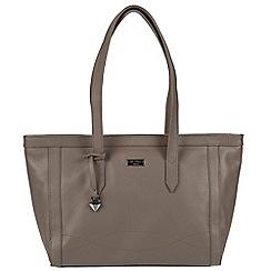 Cultured London - Grey 'Ferne' leather tote bag