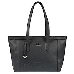 Cultured London - Navy 'Ferne' leather tote bag