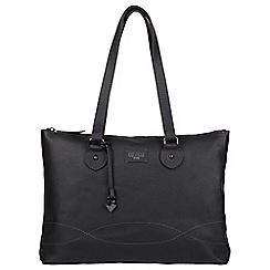 Cultured London - Black 'Ivy' leather large bag