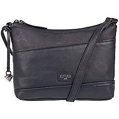 Cultured London - Navy 'Delilah' soft leather cross-body bag