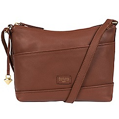 Cultured London - Sienna Brown 'Delilah' soft leather cross-body bag