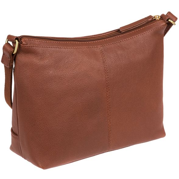 Sienna leather cross soft Brown Cultured 'Delilah' bag body London RFX75