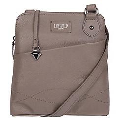 Cultured London - Grey 'Jayne' leather slim cross-body bag