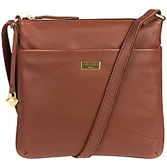 Cultured London - Brown 'Gigi' soft leather cross body bag