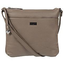 Cultured London - Grey 'Gigi' leather cross-body bag