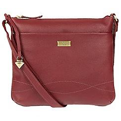 Cultured London - Ruby red 'Gigi' leather cross-body bag