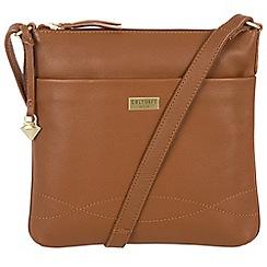 Cultured London - Tan 'Gigi' soft leather cross body bag