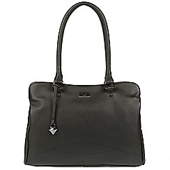 Cultured London - Black 'Kadie' leather handbag