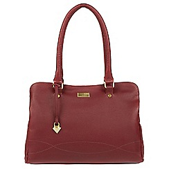 Cultured London - Ruby red 'Kadie' leather handbag