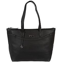 Cultured London - Black 'Oriel' soft leather hand bag
