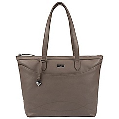 Cultured London - Grey 'Oriel' leather tote bag