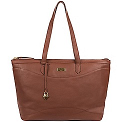 Cultured London - Sienna Brown 'Oriel' leather tote bag