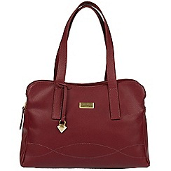 Cultured London - Ruby Red 'Lorin' soft leather handbag