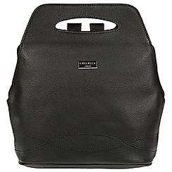 Cultured London - Black 'Paige' leather backpack bag