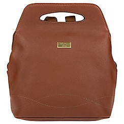 Cultured London - Sienna brown 'Paige' leather backpack bag