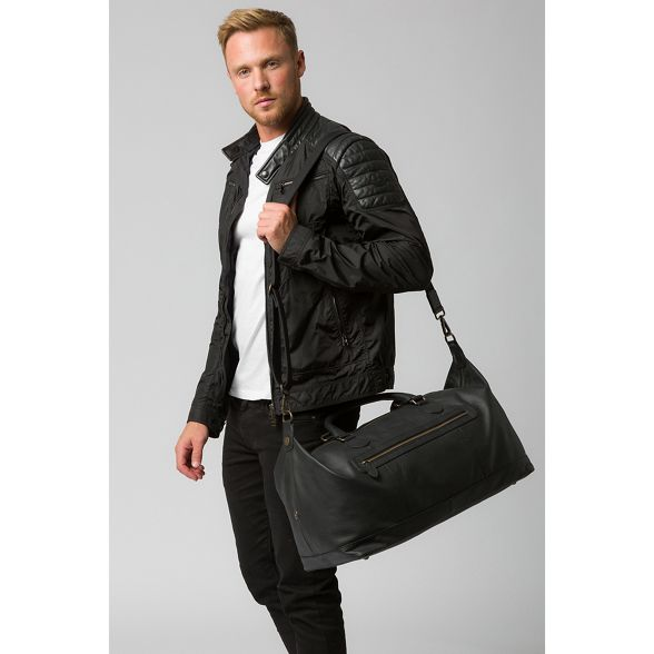 leather London holdall 'Toure' Cultured Black buffalo xIwHng7