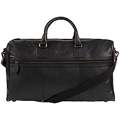 Cultured London - Black 'Expedition' soft leather holdall