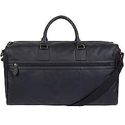 Cultured London - Navy 'Expedition' buffalo leather holdall