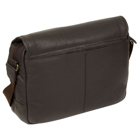 Dark leather natural 'Reaction' messenger bag London brown Cultured 46qAF