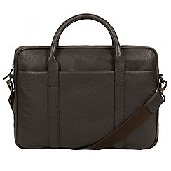 Conkca London - Dark Brown 'Assignment' buffalo leather work bag
