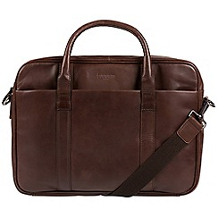 Cultured London - Dark Brown 'Assignment' buffalo leather work bag