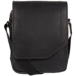 Cultured London - Black 'Scene' medium leather despatch bag
