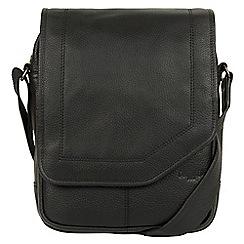 Cultured London - Black 'Scene' buffalo leather despatch bag