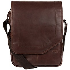 Cultured London - Dark brown 'Scene' medium leather despatch bag