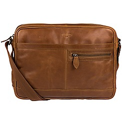 Cultured London - Chestnut 'Trek' buffalo leather messenger bag