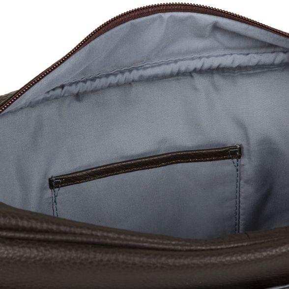 Brown London bag leather Cultured messenger 'Trek' Dark xUnUCv