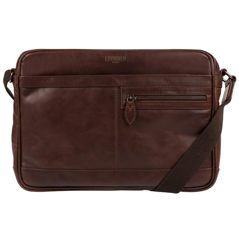 Cultured London - Dark Brown Trek Leather Messenger Bag