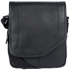 Cultured London - Black 'Trip' buffalo leather despatch bag