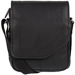 Cultured London - Black 'Trip' small leather despatch bag